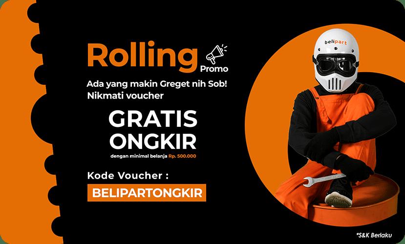 Promo gratis ongkir sparepart motor