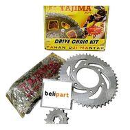 Gear Set + Rantai Supra X 125 428 TAJIMA