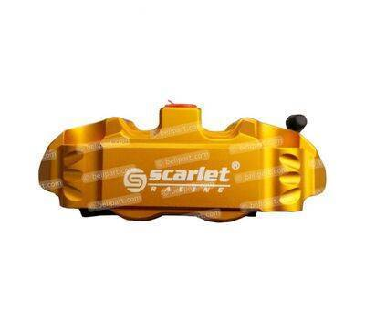 Caliper Dl 14R 4 Piston CNC Gold Scarlet