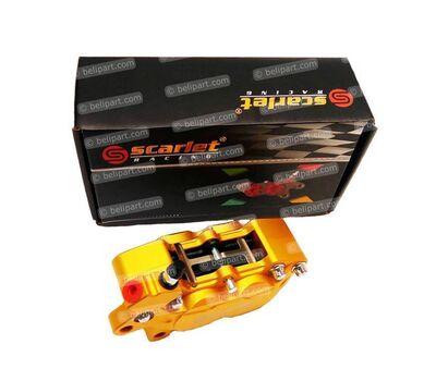 Caliper Dl 20L 4 Piston Gold Scarlet