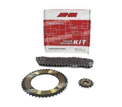 Gear Set+Rantai Heavy Duty KLX 150 428H -124 MHM
